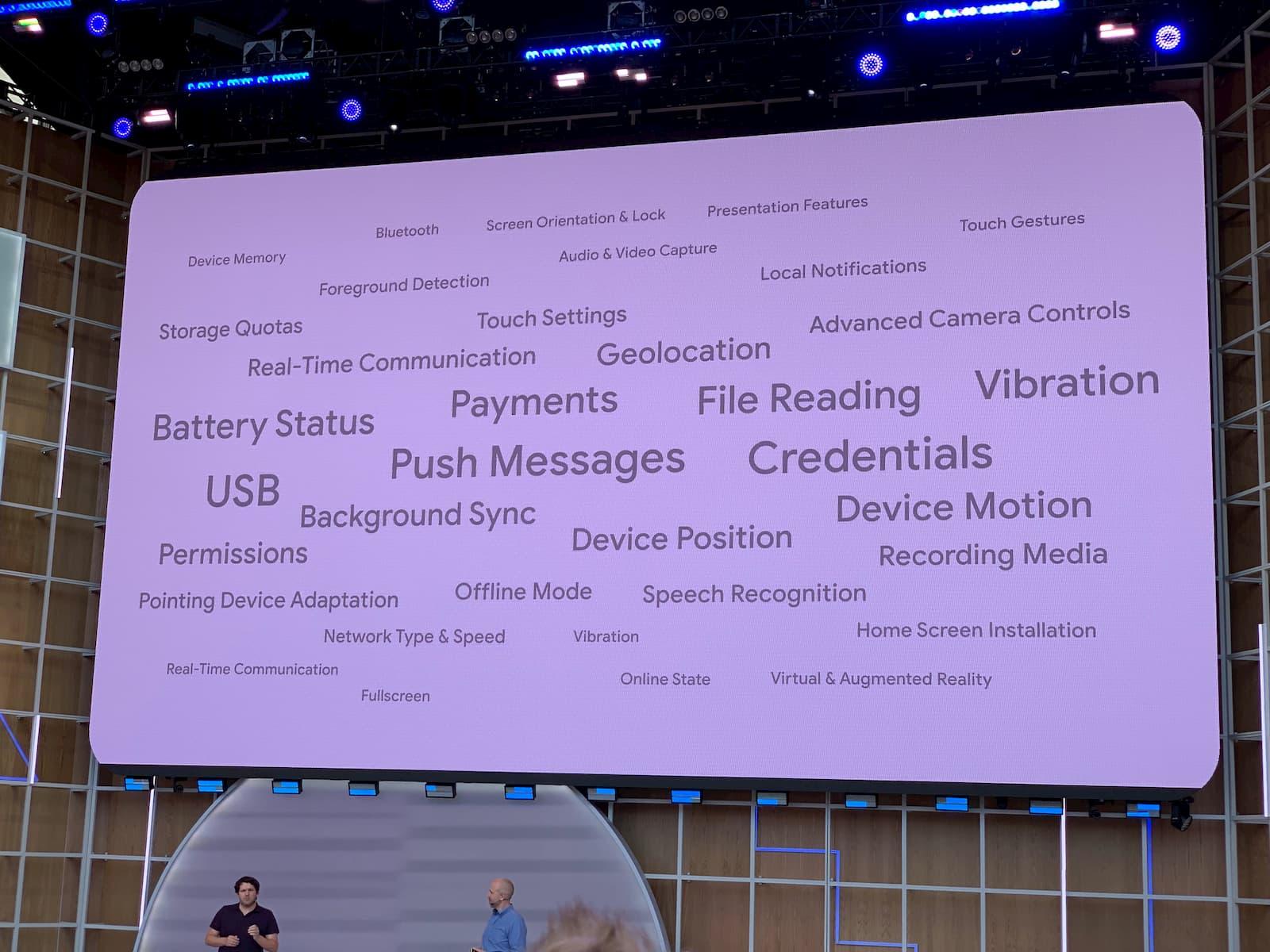 네이티브 접근 API들