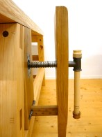 The leg vise are made of oak. Photo: Anton Nilsson
