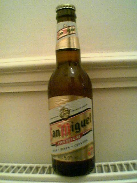 San Miguel bottle