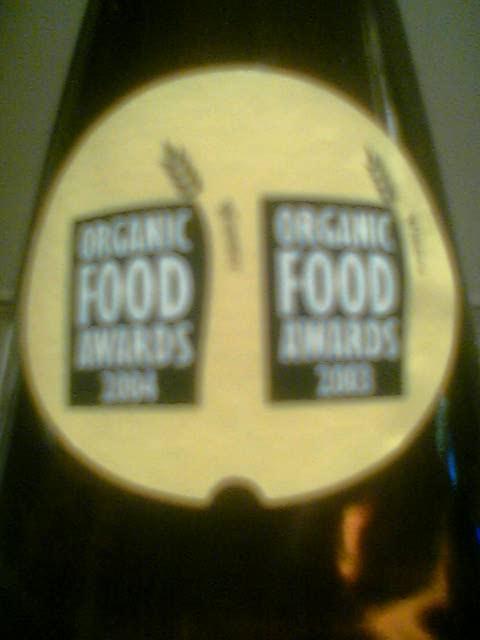 Westons Premium Organic Cider neck label