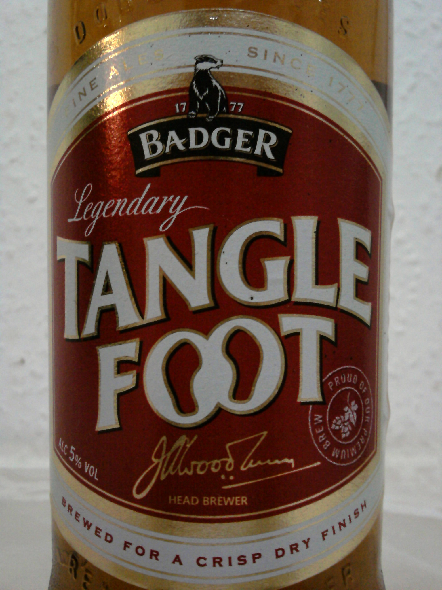 Hall & Woodhouse Badger Tangle Foot front label
