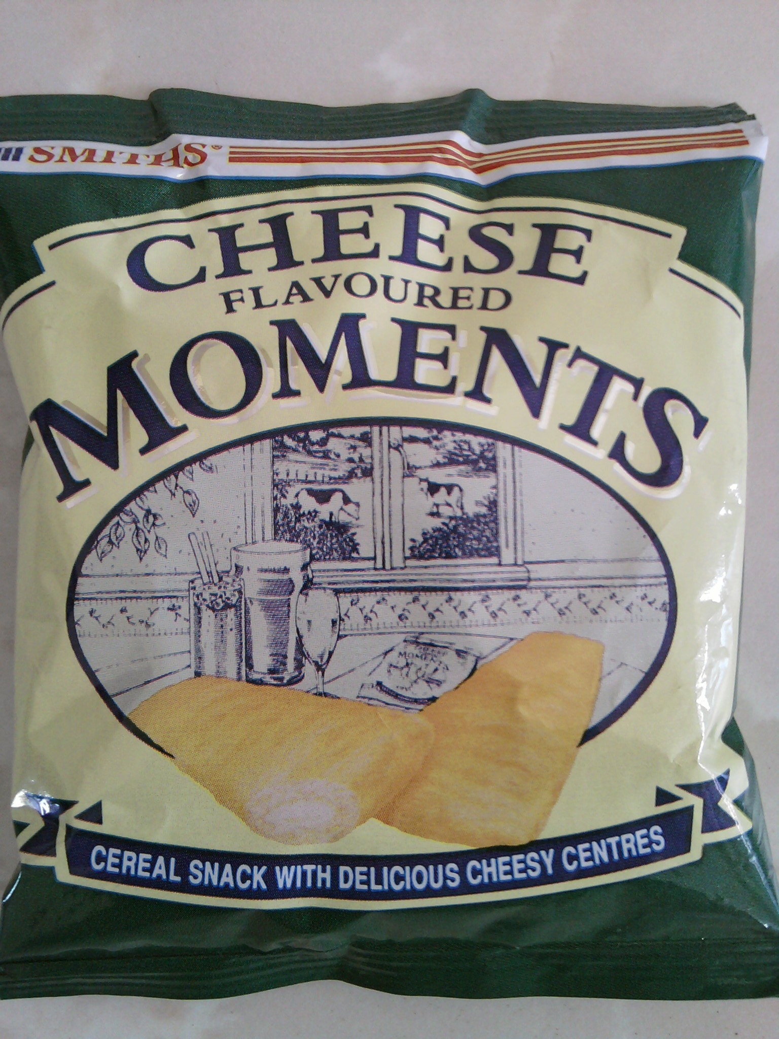 Smiths Cheese Flavoured Moments front of bag