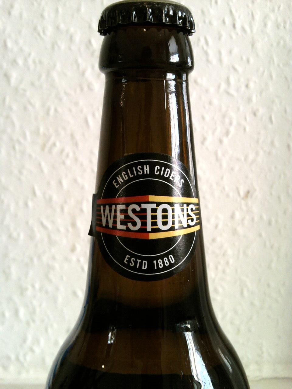 Henry Westons Vintage Special Reserve Cider neck label