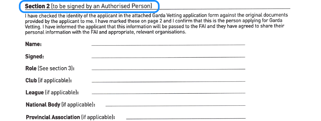 A Guide to Completing the Garda Vetting ID Validation Form