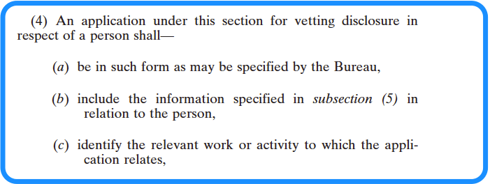 Section 13 National Vetting Bureau Acts