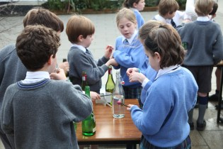 Making music from recycled bottles (9)
