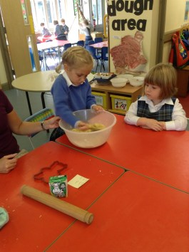 Making our bear biscuits