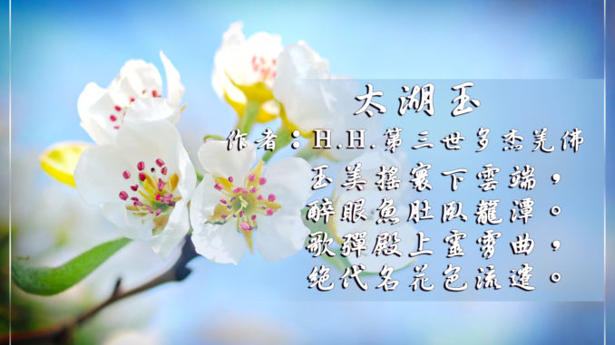 H.H.第三世多杰羌佛藝術詩詞歌賦-太湖玉