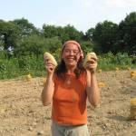 Sarah Legoff et de belles pommes de terre bio