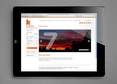 Digital Branding & Design for Keatons Estate Agents