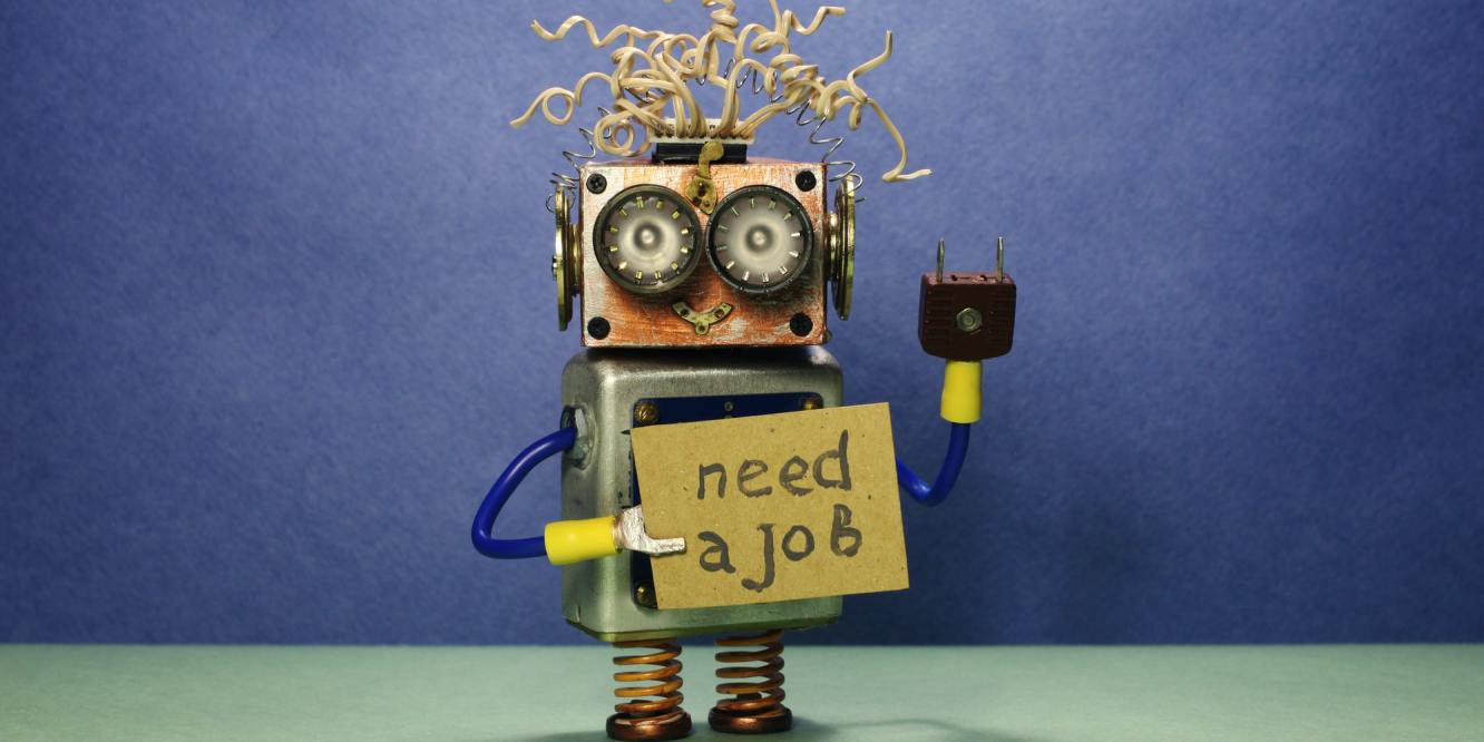 Robot looking for a job.