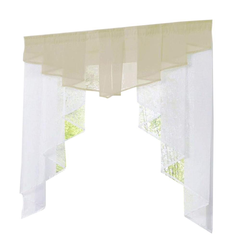 irregular pleated rod pocket window short roman shades blinds curtains ebay