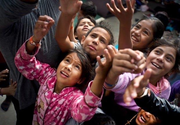 Central America Migrant Caravan children