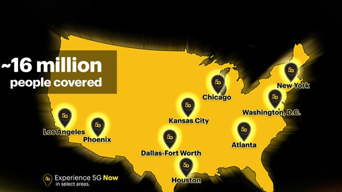 Sprint 5G network coverage map: which cities are covered