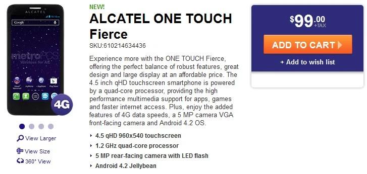 Metro Pcs Alcatel One Touch Evolve