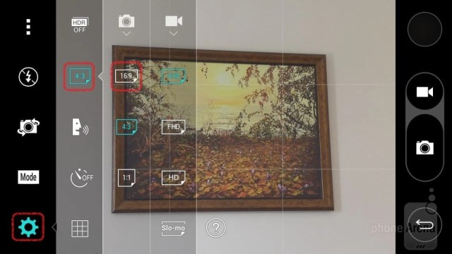 Camera tips — change the aspect ratio