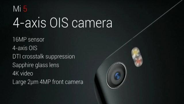 Mi5 Camera Spec