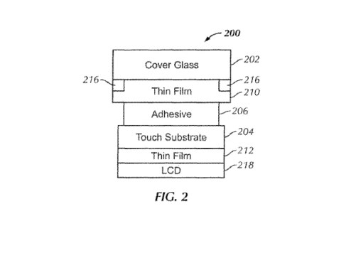 The Touch ID sensor inside the display would feature different layers of substrates and conductors Apple granted patents for bezel free display and in screen Touch ID button
