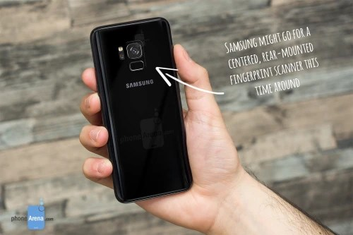 Galaxy S9 concept with a single camera and a centered, rear-mounted fingerprint scanner