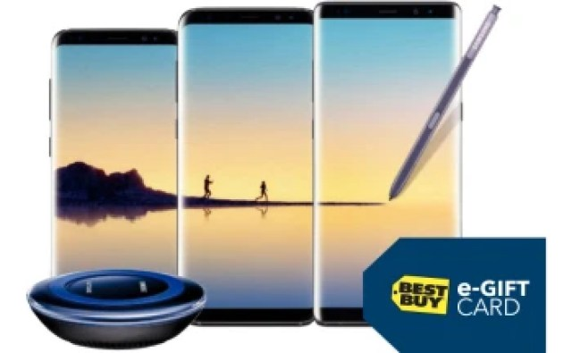 Deal: Unlocked Samsung Galaxy Note 8 and S8 now come with a $100 gift card, free wireless charging pad