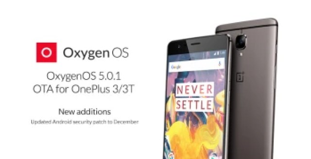 OxygenOS 5.0.1 update for OnePlus 3 and 3T brings adaptive mode, more