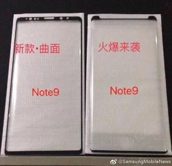 Picture allegedly shows screen protectors for the Samsung Galaxy Note 9