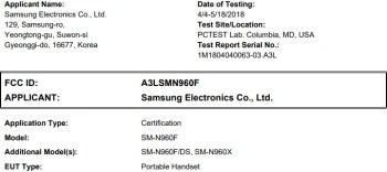 Samsung Galaxy Note 9 gets approved by the FCC, could be announced soon