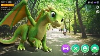 AR Dragon screen1 - للتحميل خمسة من أفضل ألعاب الواقع المعزز لهواتف الأندرويد و iOS