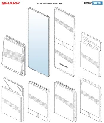 Sharp has patented a sleek foldable phone with two hinges