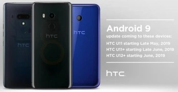 HTC announced when three recent models will be updated to Android 9