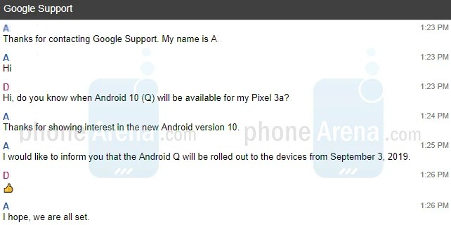 Android 10 coming September 3 as confirmed by this Google Support agent - Android 10 release date confirmed: Here's when Google will release it to Pixel phones