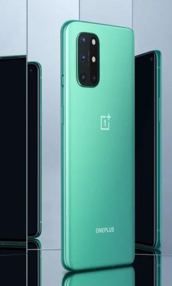 Aquamarine Green - OnePlus 8T, iki pil, 120Hz düz ekran ve 65W hızlı şarj ile birlikte gelir
