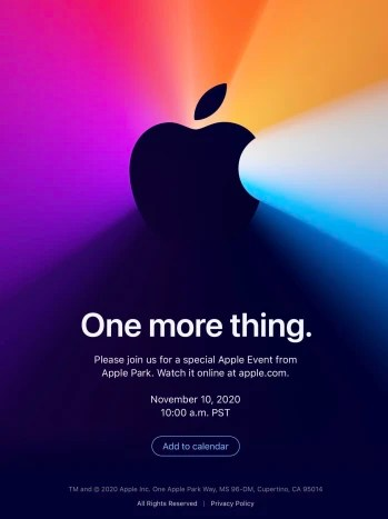 Apple teases 'One More Thing' as it announces November 10 event