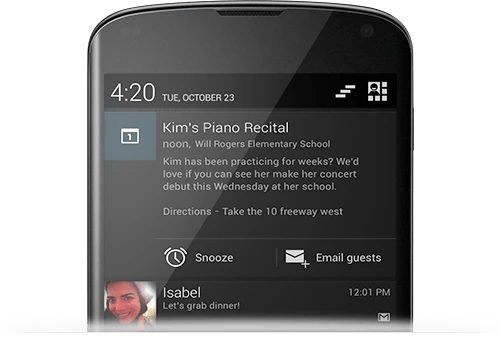 Expandable Notifications