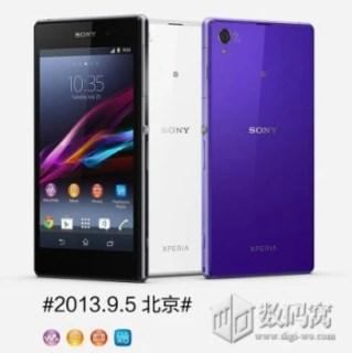 Press image of the Sony Xperia Z1
