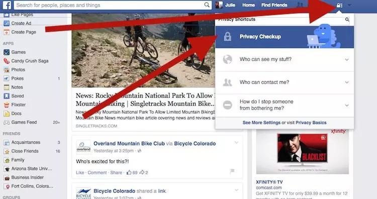 bi facebook settings