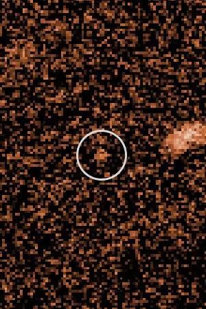 on distingue a peine sur cette image cet objet céleste d'une taille d'environ