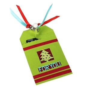 Zip Gift Tag for Christmas