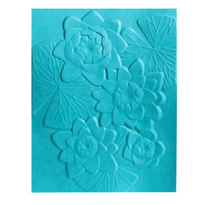 Water Lily 3D embossing folder