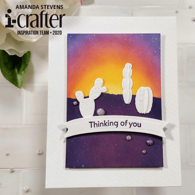 Amanda Stevens Desert Sunset Cactus Card