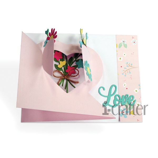 Flip Card, Heart Blooms