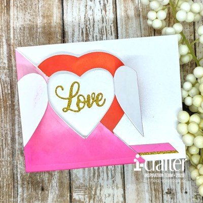 Flip Card Heart Blooms