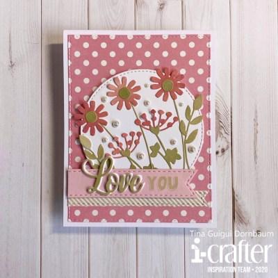 Flip Card, Heart Flowers