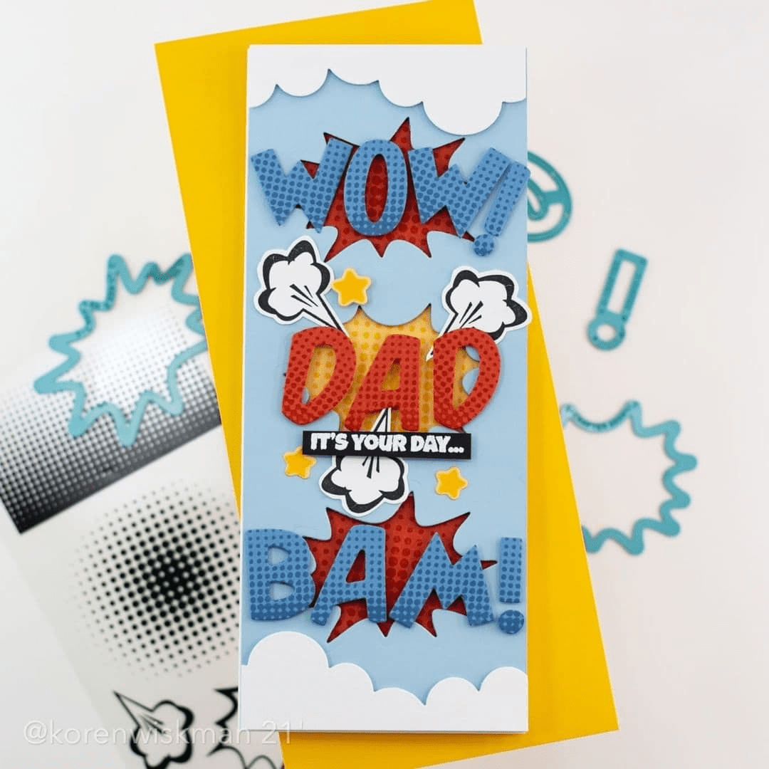 Comic words Fathers Day Dad i-crafter