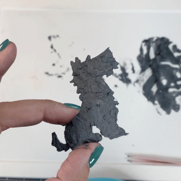 embossing paste, colored embossing paste, scottie, scottie holiday, grey scottie, card making, Nicki Hearts Cards