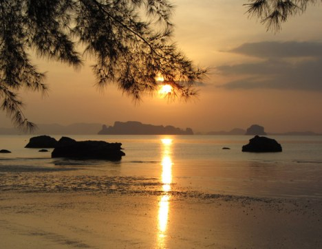Hidden Gem Krabi Thailand A sunset in the Aonang region looks like this. Expect nothing less :D