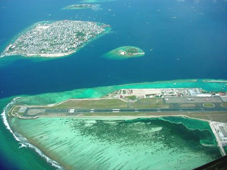 Disappointing travel destination Male Maldives airport island.