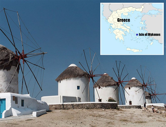 Top 10 Islands World Mykonos Windmills