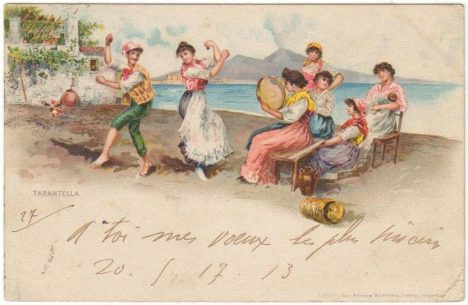 Disappointing travel destination Naples Italy Postcard from 1903.