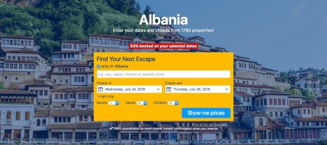 Albania. Check out best and cheapest accomodation.